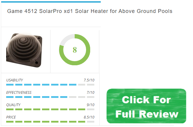 Game 4512 SolarPro xd1 Solar Heater for Above Ground Pools review