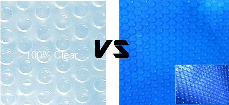 clear vs blue solar cover