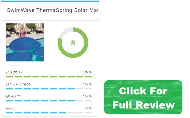 swimways thermaspring solar mat review